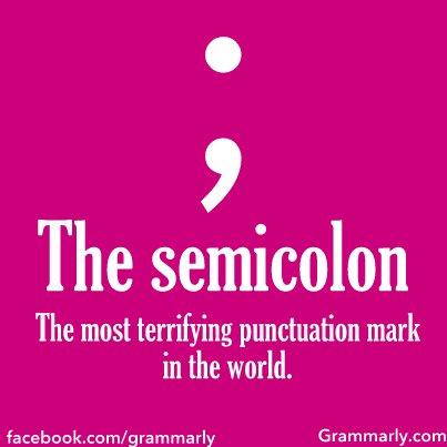 semicolon, Grammarly, punctuation