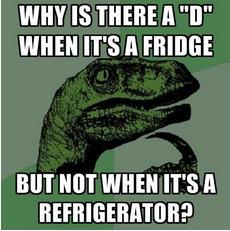fridge, Facebook, Grammarly, refrigerator, spelling