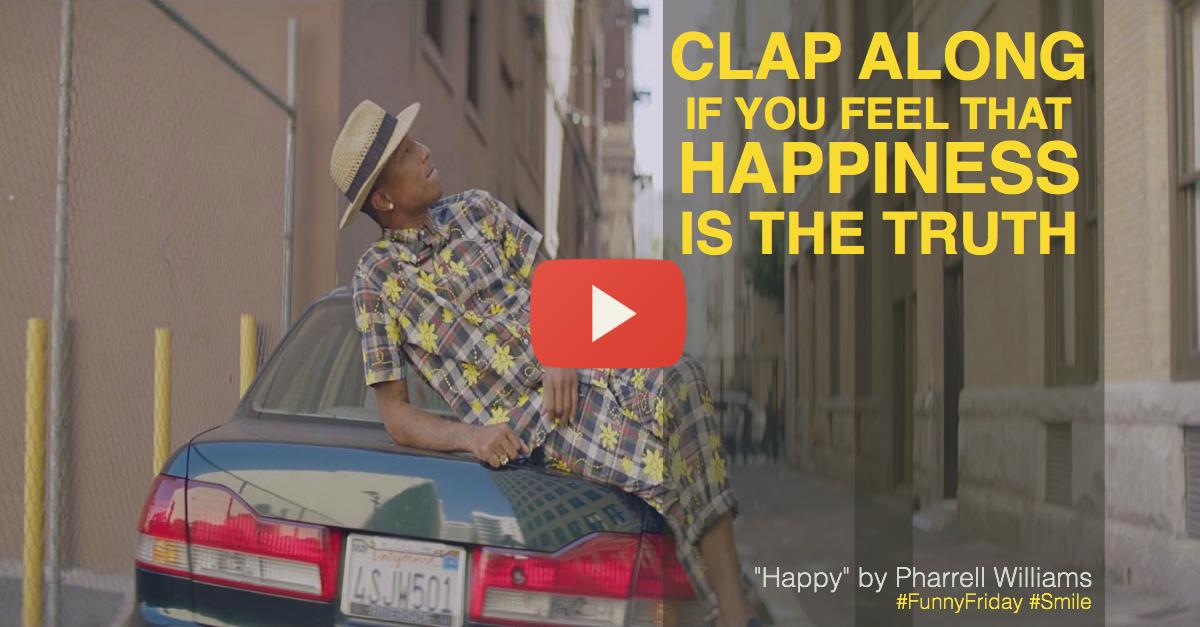 Pharrell Williams, happy, Grammarly, writing, language