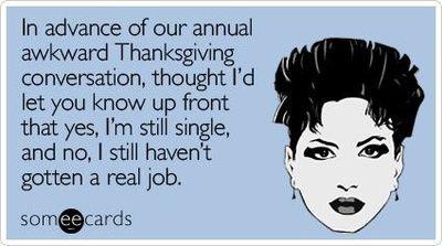 writer, Thanksgiving, awkward