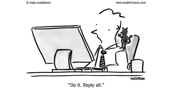Cartton about email at work by Mark Anderson at andertoons.com