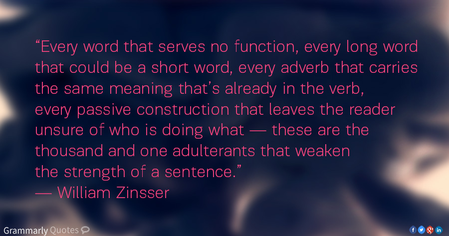 William Zinsser quotation