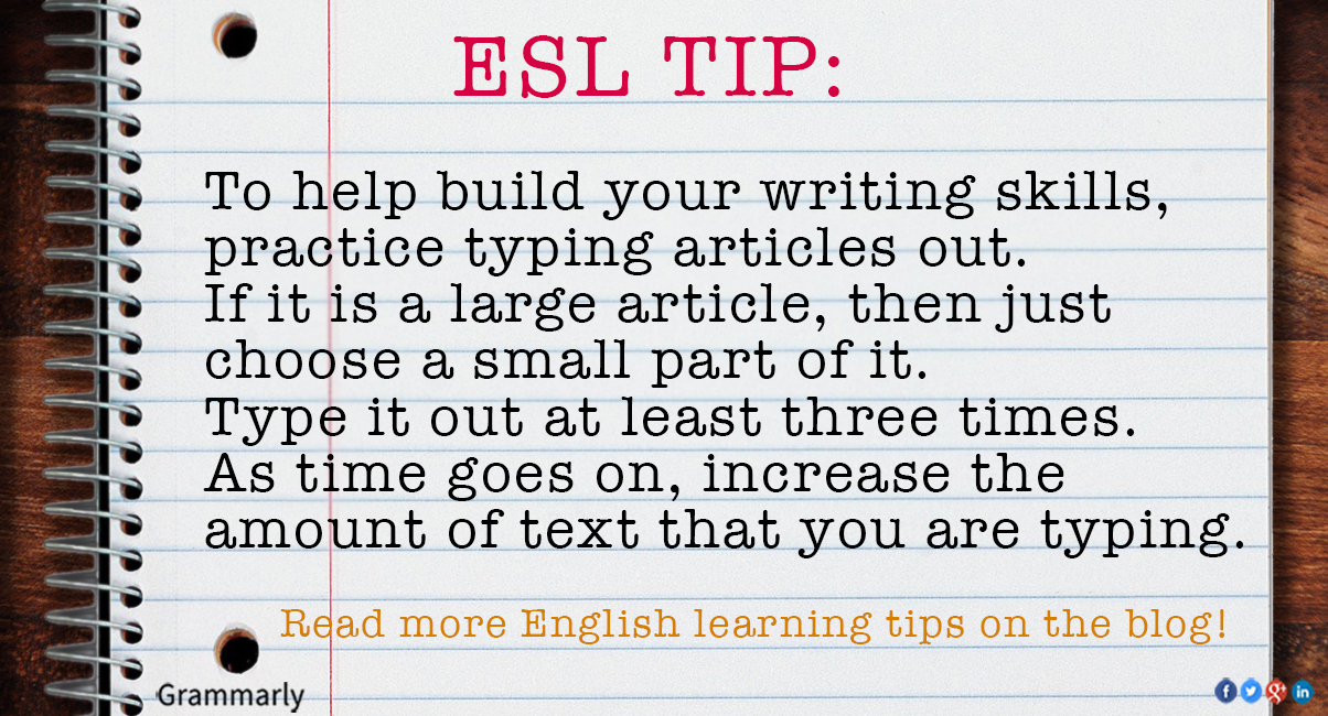 ESL Tip for improving writing by Christopher Rudolph