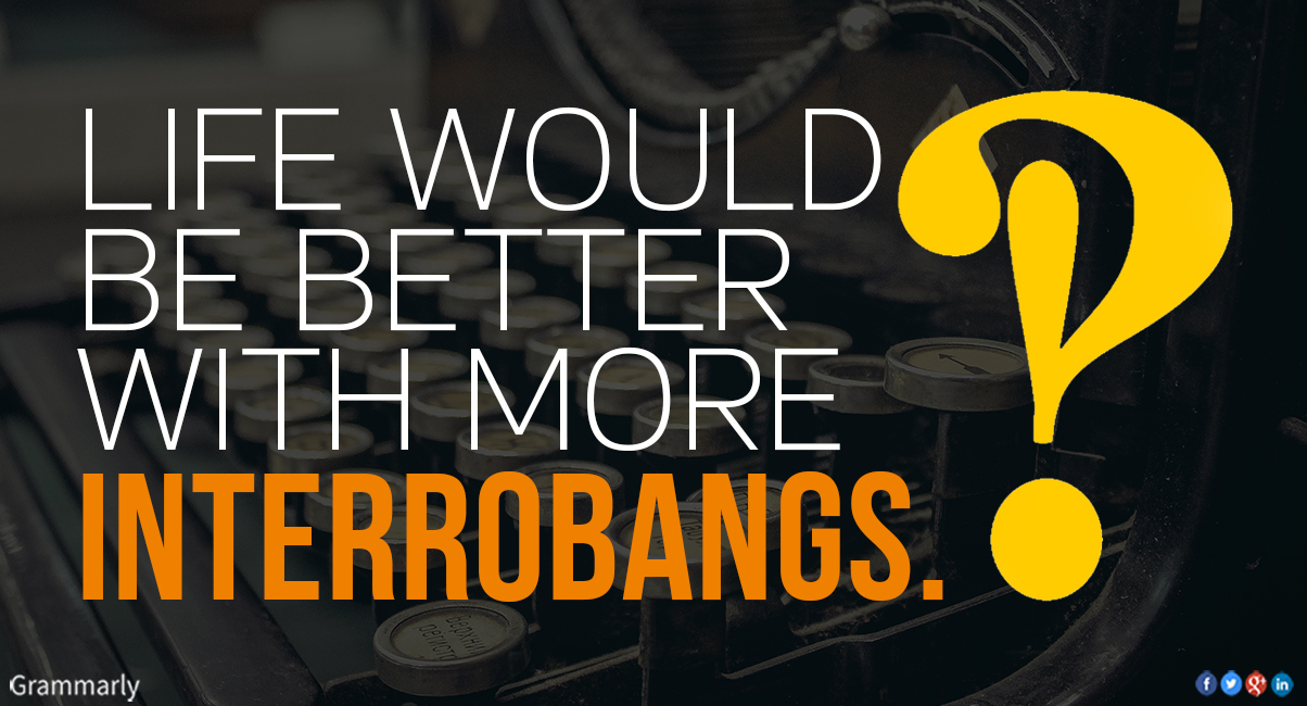 How to use the interrobang punctuation mark