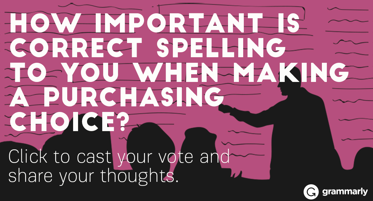 How important is correct spelling to you when making a purchasing choice?