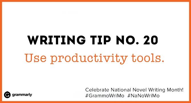 Use productivity tools.