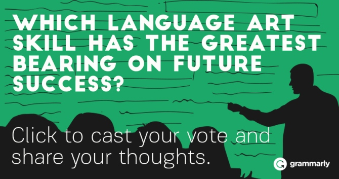 Which language art skill has the greatest bearing on future success?